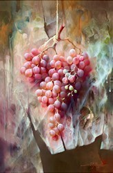 Uvas Rojas II by J M Reyes -  sized 16x24 inches. Available from Whitewall Galleries